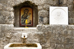 Kotor, Montenegro. Holy source. Stock Photos