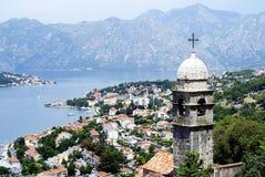 Kotor Montenegro - Juli 08, 2014: Kotor's slott av San Giova Royaltyfria Bilder