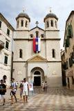 Kotor Montenegro - Juli 07, 2014: St Nikola Church Royaltyfria Bilder