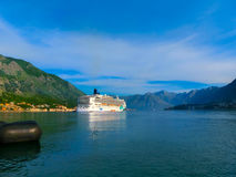 Kotor, Montenegro - May 07, 2014: The Cruise liner Norwegian Jade by NCL docked at the port Royalty Free Stock Photo