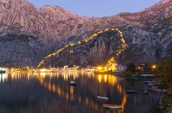 Kotor, Montenegro nachts Stockfoto