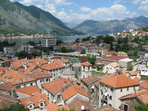 Kotor (Montenegro) - view from the citadel.  Stock Photography
