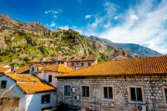 Kotor old city in Montenegro stock photography