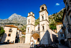 Kotor old city in Montenegro Stock Images