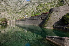 Kotor old City Wall Fortifications Stock Photography