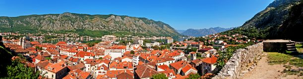 Kotor old town and Boka Kotorska bay Royalty Free Stock Photo