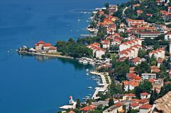 Kotor old town and Boka Kotorska bay, Montenegro Royalty Free Stock Photo