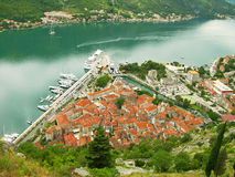 Kotor old town and Kotor bay, Montenegro Stock Photo