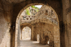 Kotor old town ramparts Royalty Free Stock Photo