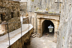 Kotor old town ramparts Royalty Free Stock Images