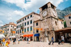 Kotor old town square in Kotor, Montenegro