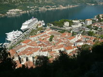 Kotor oldtown from castle Stock Images