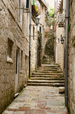 Kotor. Stairs. Stairs in the old town of Kotor, one of the most famous places on Adriatic coast of Montenegro Stock Image