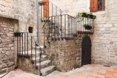 Kotor stone stairs Royalty Free Stock Images