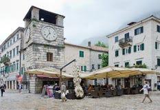 Kotor. Tour d'horloge Photos libres de droits