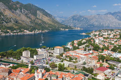 Kotor town in bay, Montenegro Royalty Free Stock Photography