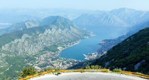 Kotor town on coast(Montenegro) Royalty Free Stock Images