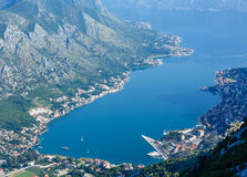 Kotor town on coast(Montenegro) Royalty Free Stock Photo