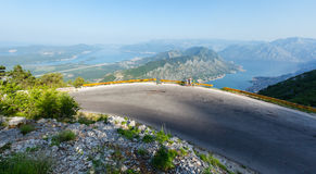 Kotor town on coast  (Montenegro, Bay of Kotor) Stock Photos