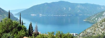 Kotor town on coast  (Montenegro, Bay of Kotor) Stock Photo