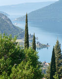 Kotor town on coast  (Montenegro, Bay of Kotor) Stock Photo