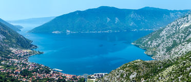 Kotor town on coast  (Montenegro, Bay of Kotor) Stock Images