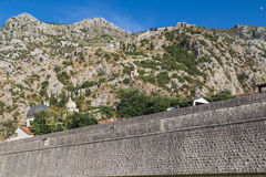Kotor Walls and Fortress Stock Photography