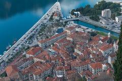 Kotor y bahía de Kotor, Montenegro Fotos de archivo libres de regalías