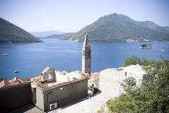 Kotorska Bay in Montenegro. Beauty Kotorska Bay in the Montenegro, old church stock image