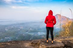 Kottapara hillsKottappara观点是最新的加法对旅游业在喀拉拉的伊都基县 库存图片