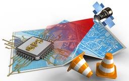 kottar för reparation 3d royaltyfri illustrationer