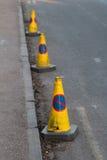 Kottar med inget parkeringstecken Royaltyfria Bilder