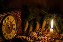 Kottar och stearinljus Royaltyfri Bild