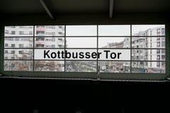 Kottbusser station Arkivfoton