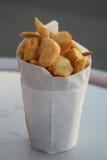 Kotte av nya rimmade chiper Royaltyfria Bilder