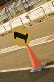 Kotte för löparbanaPitlane nummer 1 Fotografering för Bildbyråer