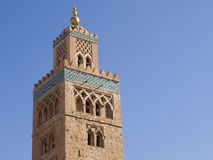 Kotubia mosque. Minaret in Marrakesh royalty free stock photography