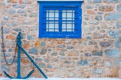 Kotwicą okno rama Obraz Stock