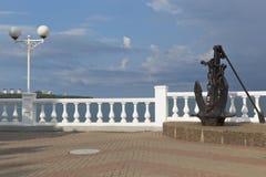 Kotwica na deptaku kurort Gelendzhik zdjęcie royalty free