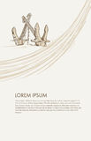 kotwica Ręka rysujący illustrations3 Zdjęcie Stock