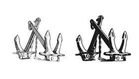 kotwica Ręka rysujący illustrations4 Zdjęcie Royalty Free