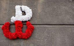 Kotwica - symbolet av Warszawaupproret mot ockupationen av Nazi Germany i världskrig II som startar Augusti 1st 1944 Arkivfoto