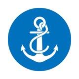 Kotwicowa ikona dla statku ilustracja wektor