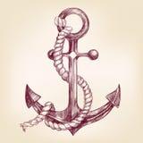 Kotwicowa ręka rysujący wektorowy llustration Obrazy Royalty Free
