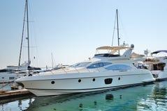 kotwicowi biały jachty Fotografia Royalty Free