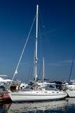 kotwicowi biały jachty Zdjęcia Stock