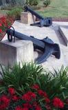 Kotwicowi zabytki przy jawnym parkiem w Palmie Majorca Ukrywają (Mallorca) Obraz Royalty Free
