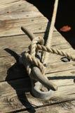 kotwicowy łódkowaty dok obraz royalty free