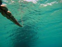 Kotwicowy łańcuch Podwodny v3 zdjęcia stock