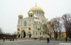 Kotwicowy kwadrat i Morska katedra St Nicholas zdjęcia stock